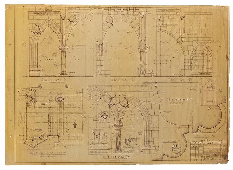 Davelandblog stop the presses vintage disneyland for sale for Old blueprints for sale