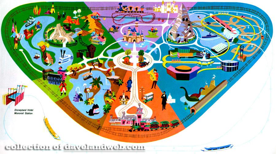 Disneyland 1955 Map Image Gallery disneyla...