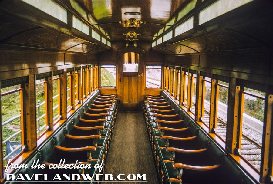 1950's interior Grand Canyon Passenger Car shot
