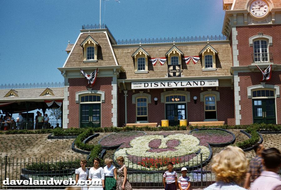 Disneyland Main Street Station 1955