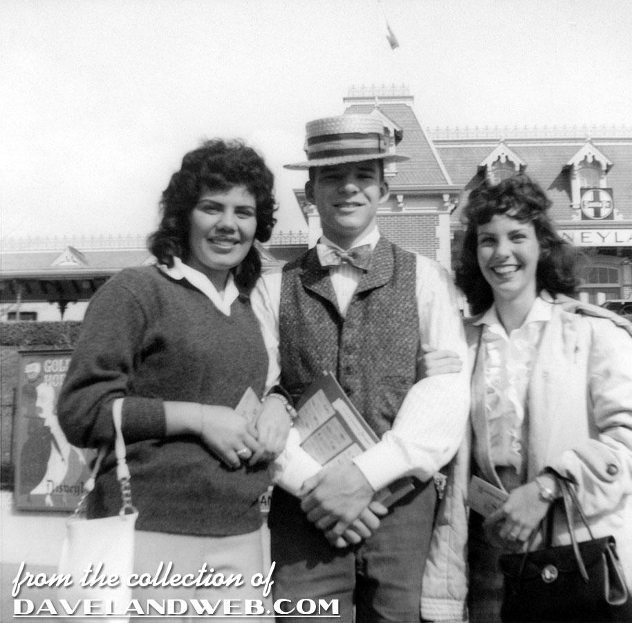 steve martin at work selling guidebooks c1957 disneyland