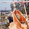Chicken of the Sea Pirate Ship and backstage view 1950s
