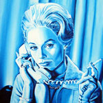 Tippi Hedren in the 1963 Alfred Hitchcock movie The Birds painting by Dave DeCaro