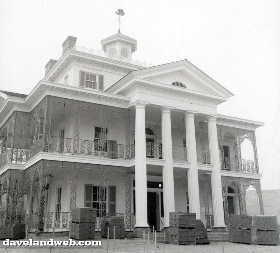 davelandblog: 48 years ago today: haunted mansion construction