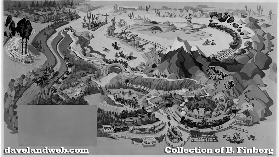Davelandblog disneyland storybook maps many years ago mr finberg sent me a photo of the black and white artwork again missing the lettering of the map for natures wonderlandmine train gumiabroncs Choice Image