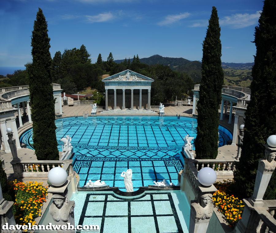 Davelandblog traveling thursdays swimming at hearst castle - Hearst castle neptune pool swim auction ...